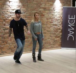 KOREOGRAFI: Tommy Fredvang og danselærer Gatica Brodin i Dance It Studio.