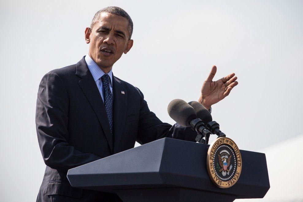 KOMMER TIL MUSEUMSÅPNING: Barack Obama. Foto: AFP