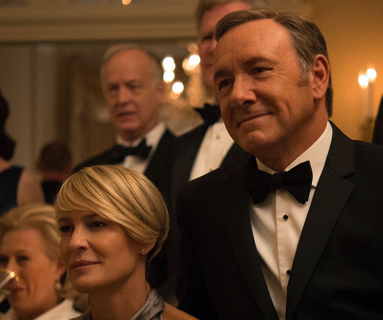 TIDLIGERE KOLLEGER: Den amerikanske skuespillerinnen Robin Wright blir å se i den sjette og siste sesongen av «House of Cards» uten sin kjente motpart Kevin Spacey.