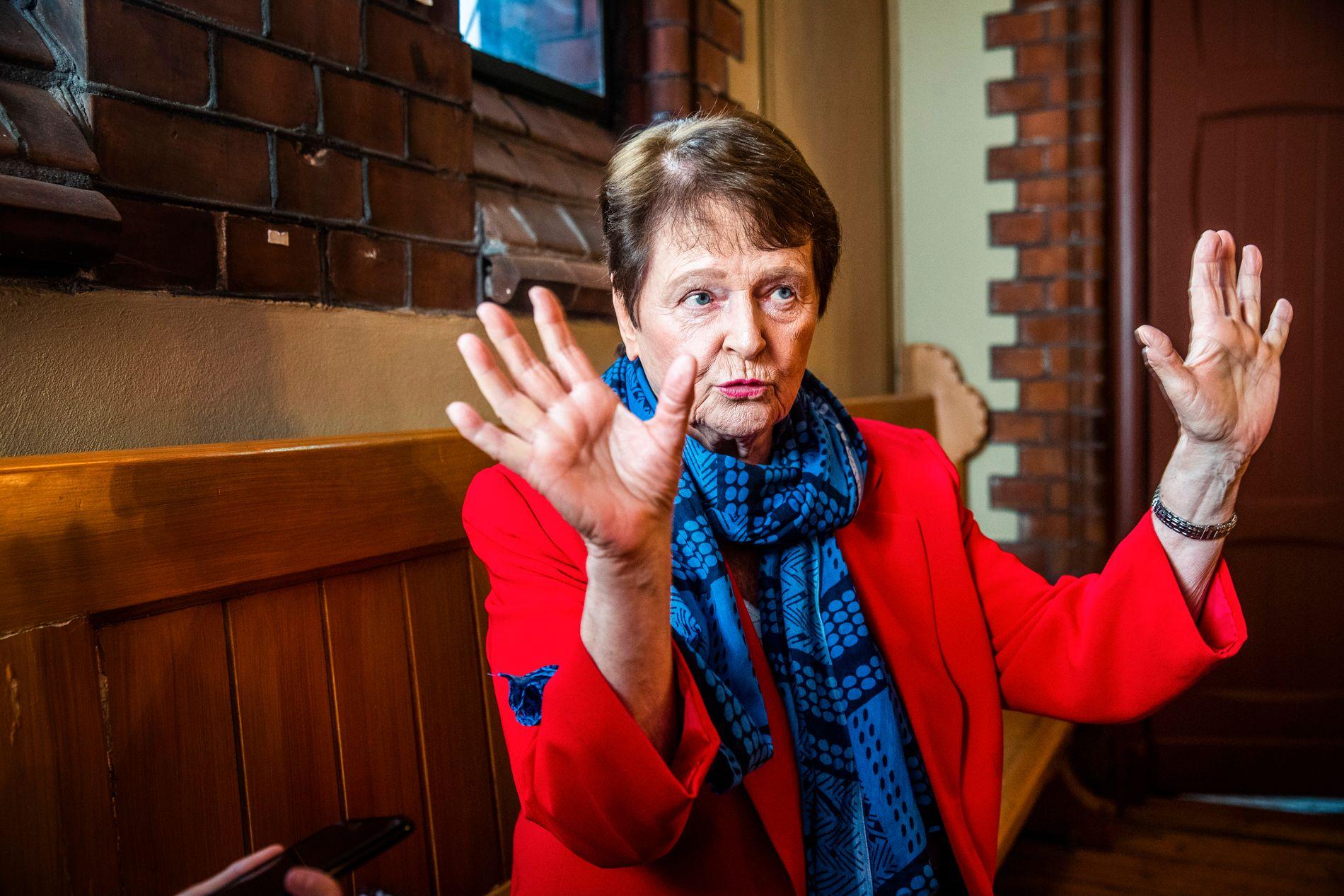 VALGKAMP-GRO: I følge et Ap-notat er det ønsket at Gro Harlem Brundtland skal skal bidra en rekke ganger i valgkampen. Her fra et intervju i forbindelse med 1. mai.