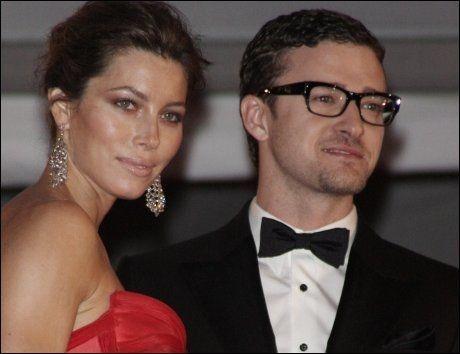SLUTT: Jessica Biel og Justin Timberlake på en kjendisgalla i 2009. Foto: AP