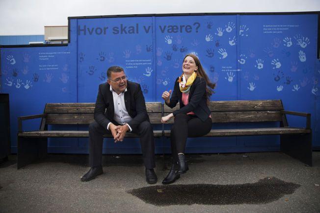 STORE OG BLIDE: Ordførerne for Vesterålens to største kommuner, Kjell-Børge Freiberg (Frp) fra Hadsel og Grete Ellingsen (H) fra Sortland.