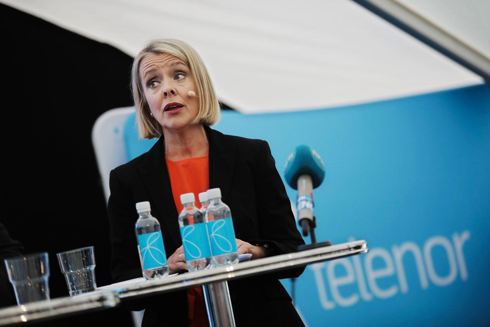 PST-sjef Benedicte Bjørnland var i debatt om forebyggende digital sikkerhet i Arendal onsdag morgen.