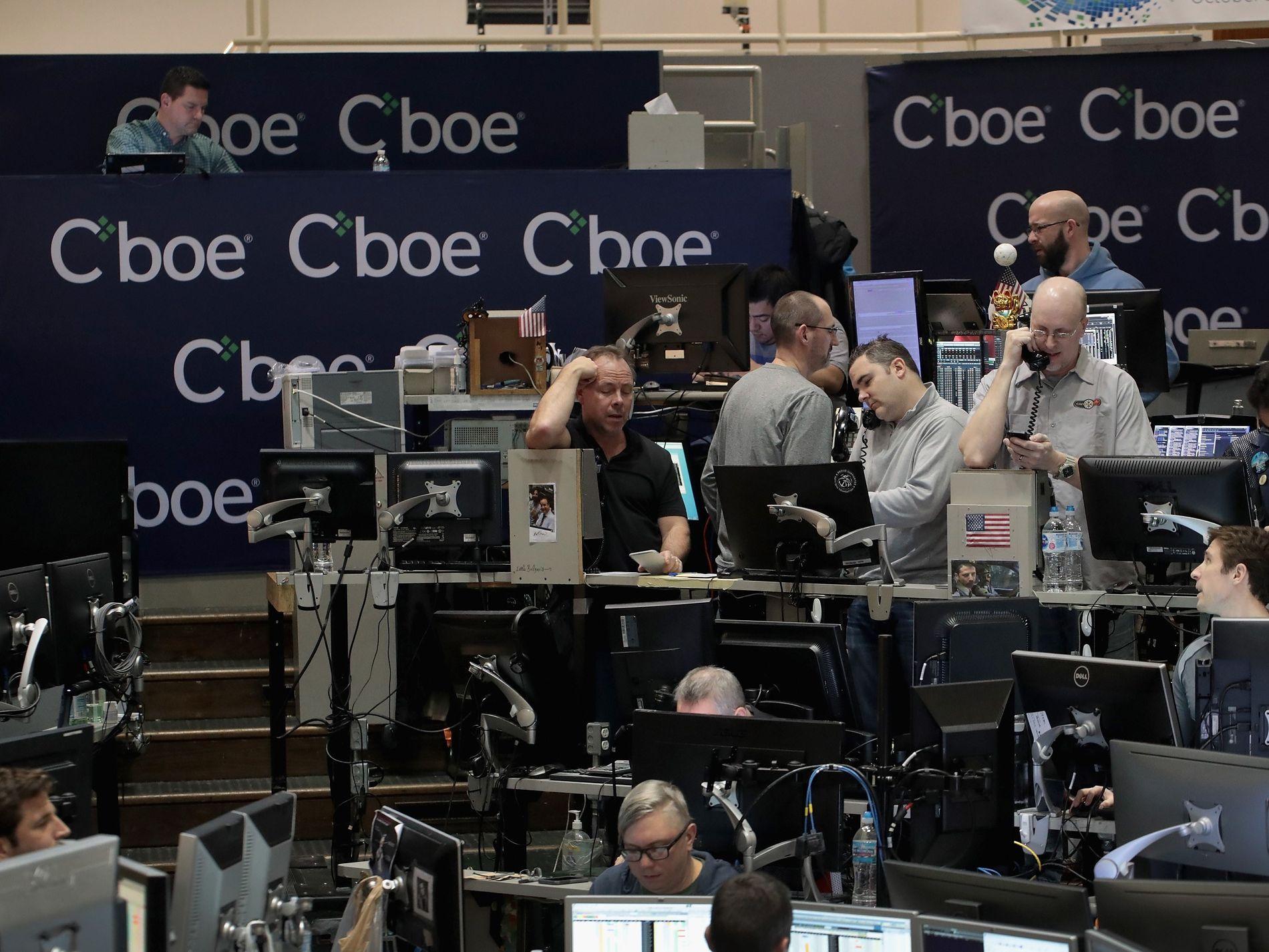 BITCOIN-BØRS: I desember ble bitcoin-kontrakter notert for handel her ved råvarebørsen i Chicago (CBOE).
