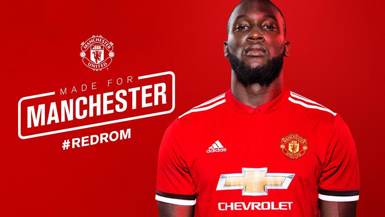«MADE FOR MANCHESTER»: Romelu Lukaku har omsider blitt Manchester United-spiller.