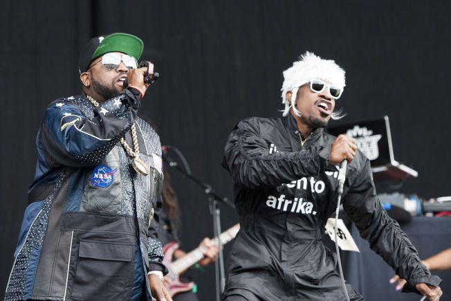 Outkast på scenen på Wireless Festival 2014 i Finsbury Park, London.