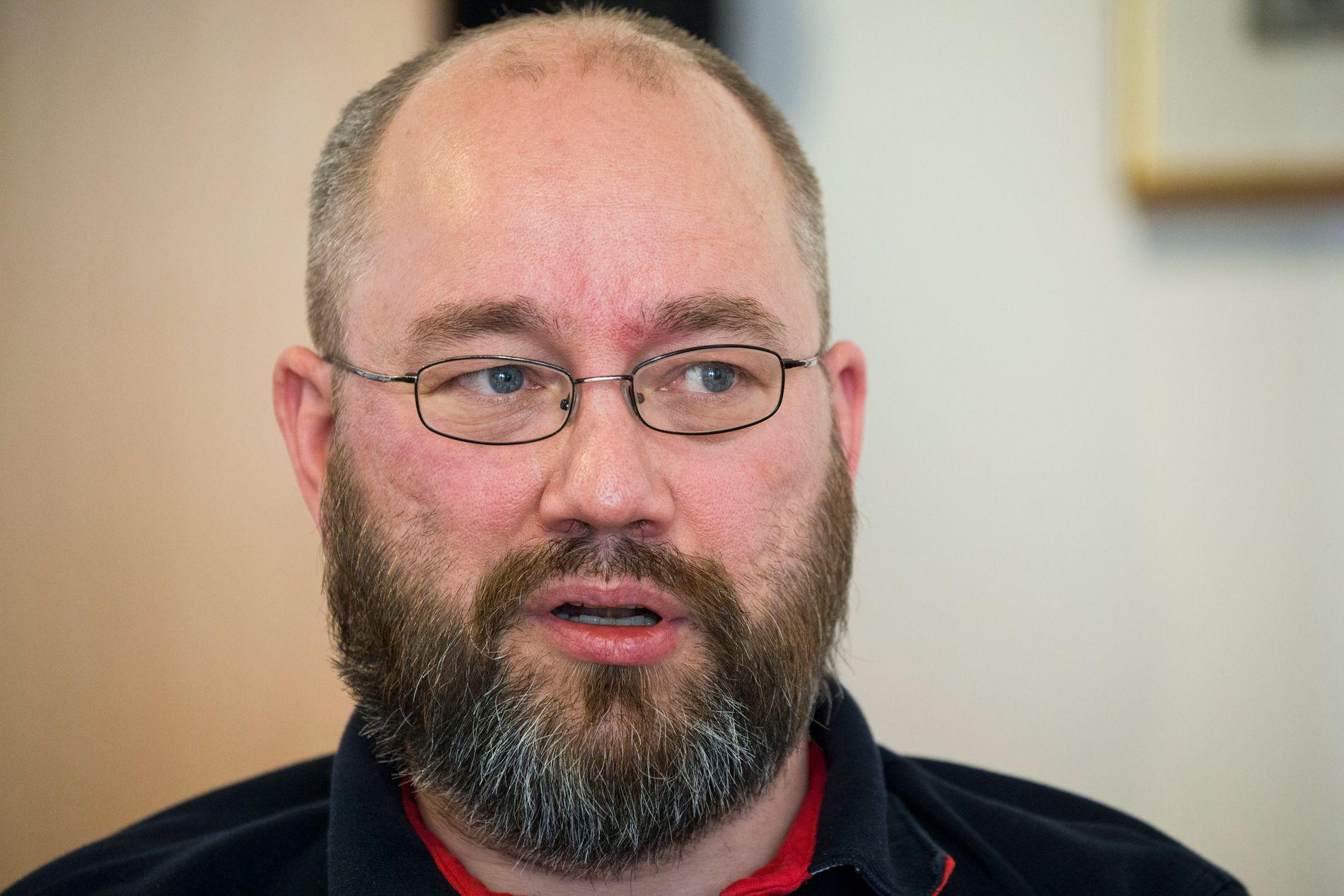 REAGER: Torbjørn Bongo is the federal leader in the Norwegian office association.