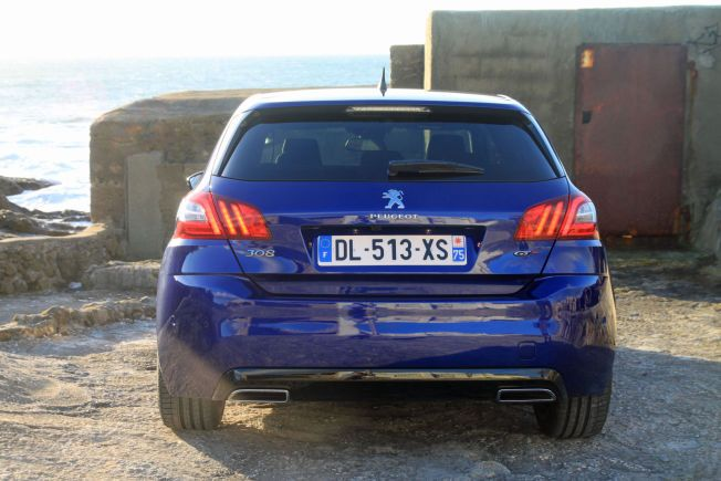 PEN BAK: 308 som GT har også gjennomgått noen forandringer i bakpartiet.