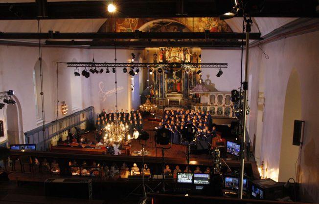 SALMEFEBER: Mer enn 3000 sangere fra hele landet var i aksjon for å fremføre 899 salmer på 60 timer. Her fra Vår Frue kirke i Trondheim.