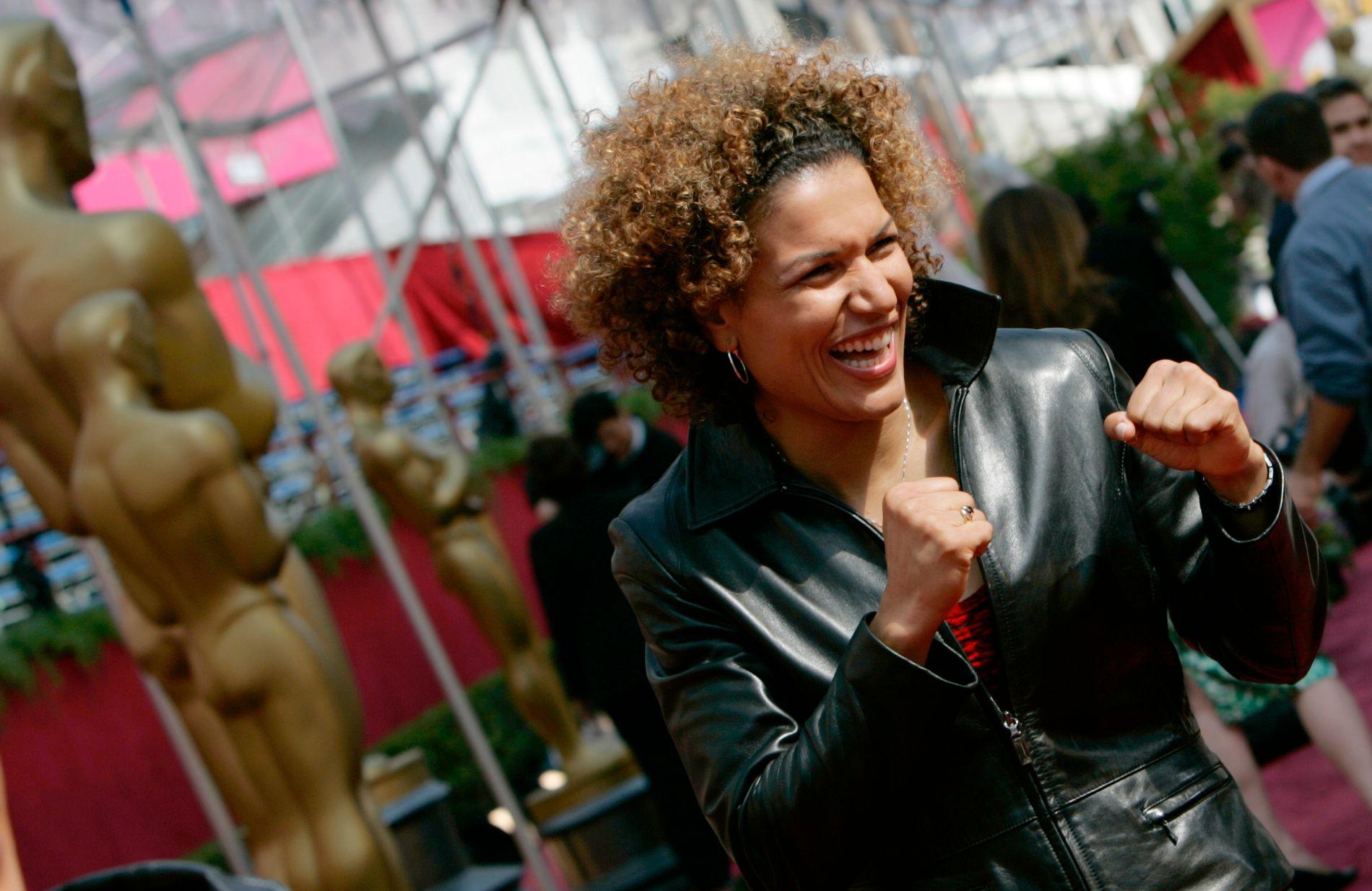 NY BRÆKHUS-SJEF: Nederlandske Lucia Rijker har spilt i flere filmer, og Cecilia Brækhus omtaler henne som tidenes beste kvinnelige bokser. Dette bildet er fra 2005.