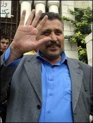 PÅGREPET: Palestinernes visepresident Hassan Khreisheh ble i kveld pågrepet av israelske styrker. Her fra valget i fjor. Foto: AFP