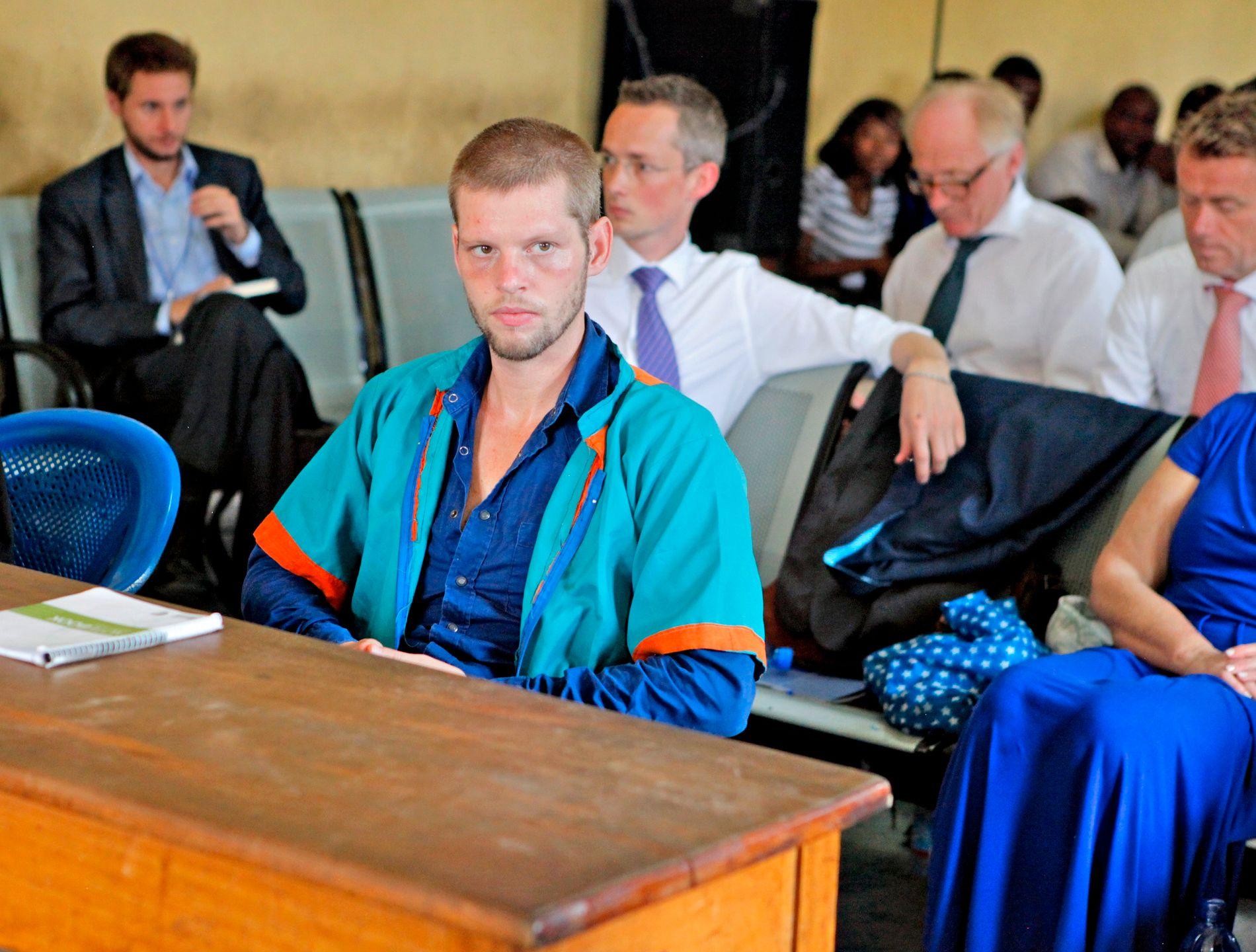 DØMT: Joshua French i rettssaken hvor han var tiltalt for å ha drept sin venn Tjostolv Moland på cella.