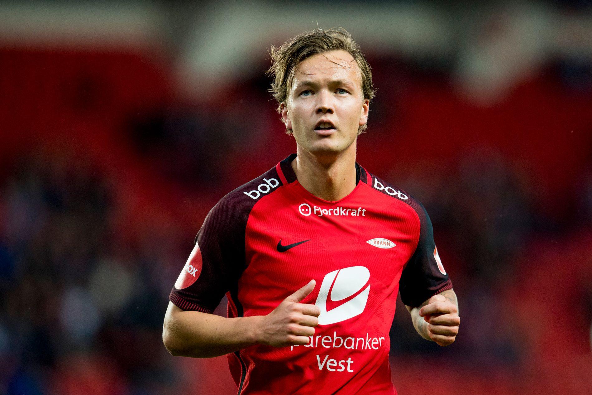 SNUDDE: Fredrik Haugen hadde bare et halvt år igjen av avtalen med Brann, og fremtiden virket å ligge et annet sted. Så signerte han ny kontrakt.