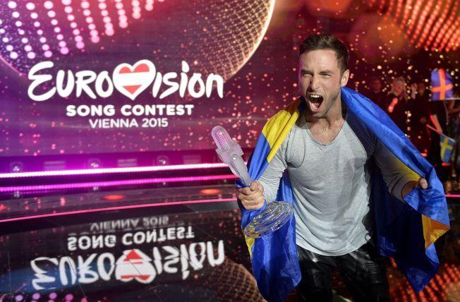 GLEDESROP: Svenske Måns Zelmerlöw er årets Eurovision-vinner.