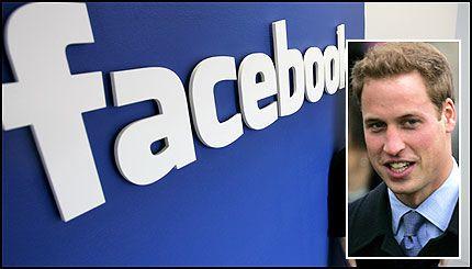 PÅ NETTET: Prins William (24) kan ha gått i skjul» på Facebook. Foto: AP og AFP