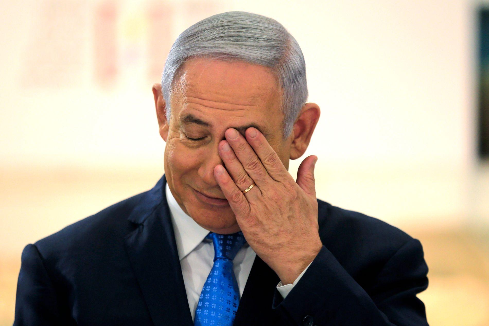 SKYLDER PÅ HAMAS: Israels statsminister Benjamin Netanyahu legger skylden for de drepte palestinerne på den Hamas.