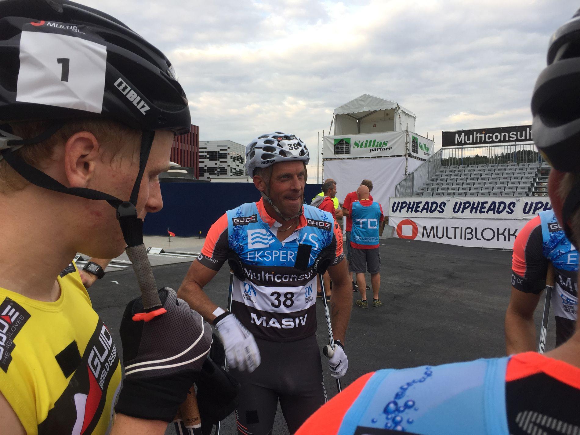 VETERAN: Anders Aukland (46) etter 5. plass på 60-kilometeren med målgang i Sandnes.