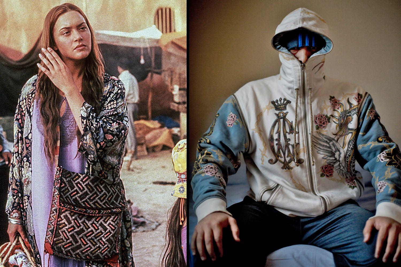 DA OG NÅ: Til venstre er Kate Winslet i filmen «Hideous Kinky», til høyre er Belal Belal fotografert på Trandum i 2015.