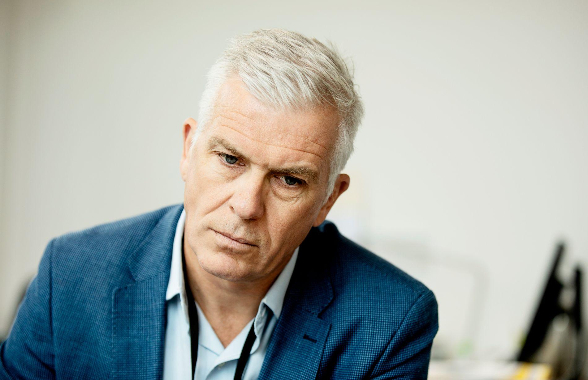 REKTOR: Rektor Jørn Mortensen ved Kunsthøgskolen var preget av alvoret i varslingssaken der en ansatt er avskjediget og en annen har sagt opp selv - da VG møtte ham onsdag.