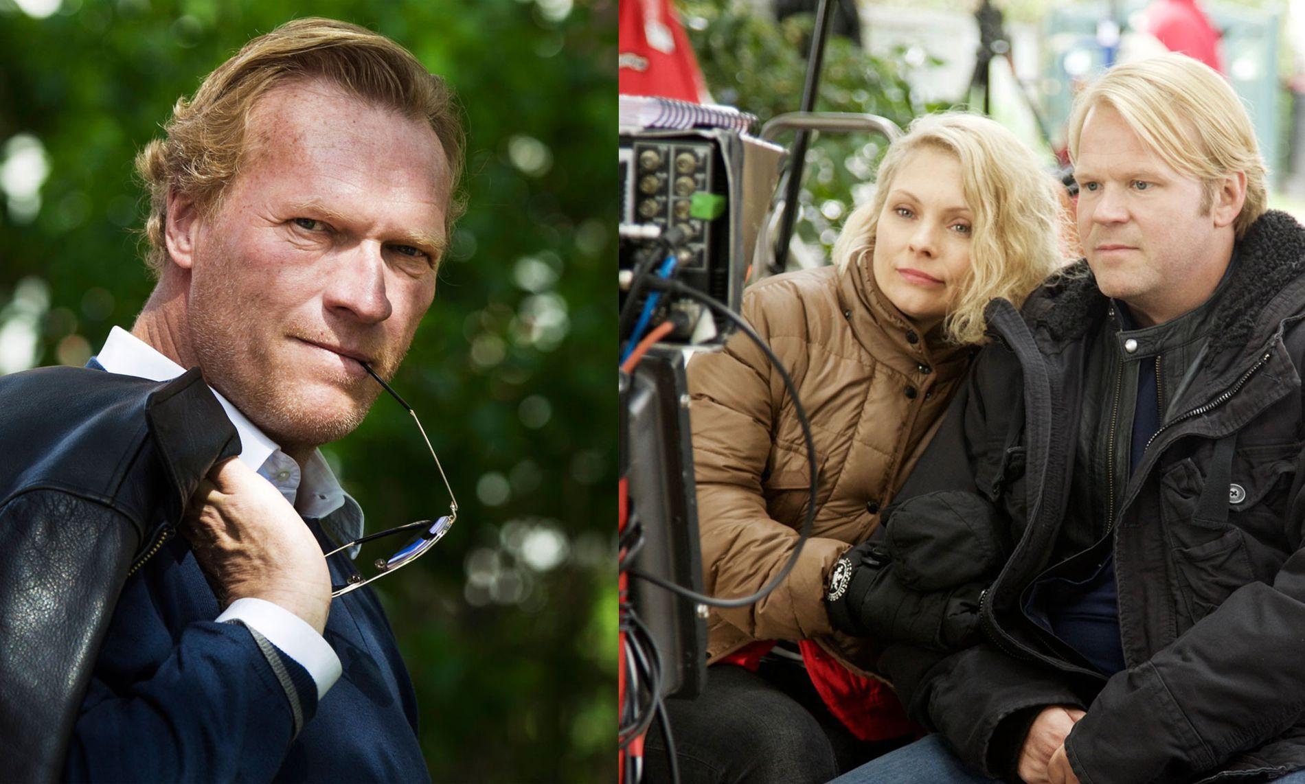 TV-KLARE: Sven Nordin (t.v.) skal spille krimhelt, mens Anders Baasmo Christiansen og MyAnna Buring skaper romantikk.