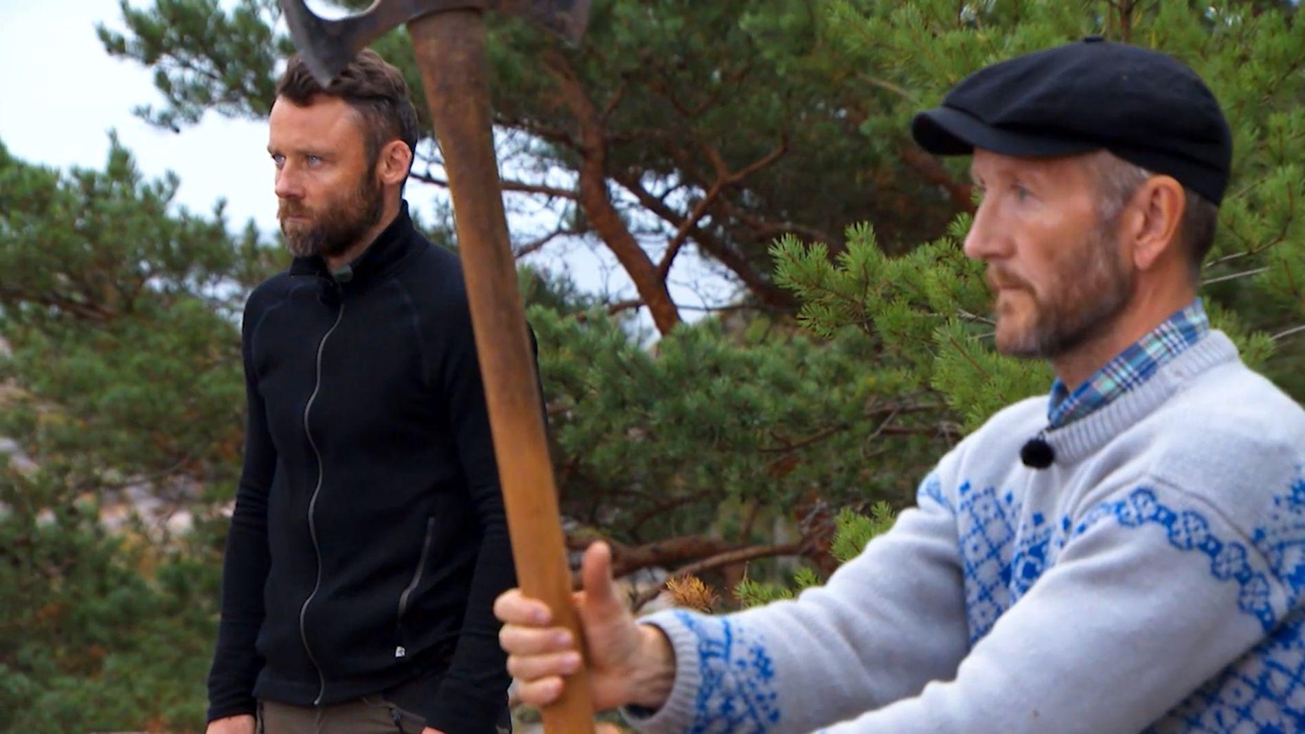 INTENST: Tom Evensen og Geir Magne i skjebnekamp.