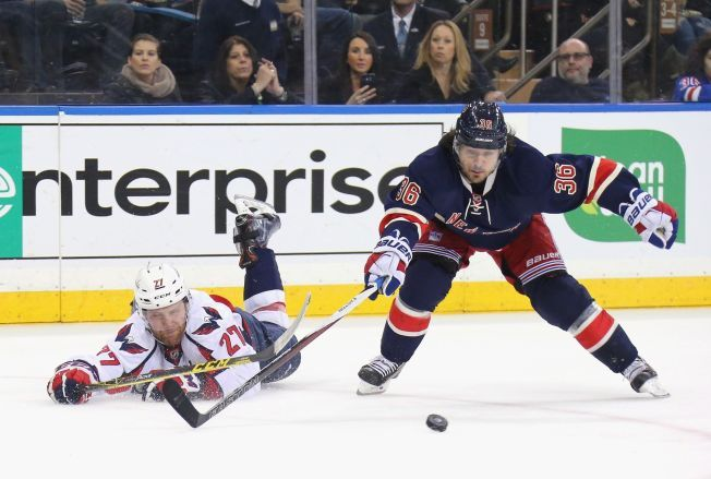THRILLER: Washington Capitals ble for sterke for New York Rangers.