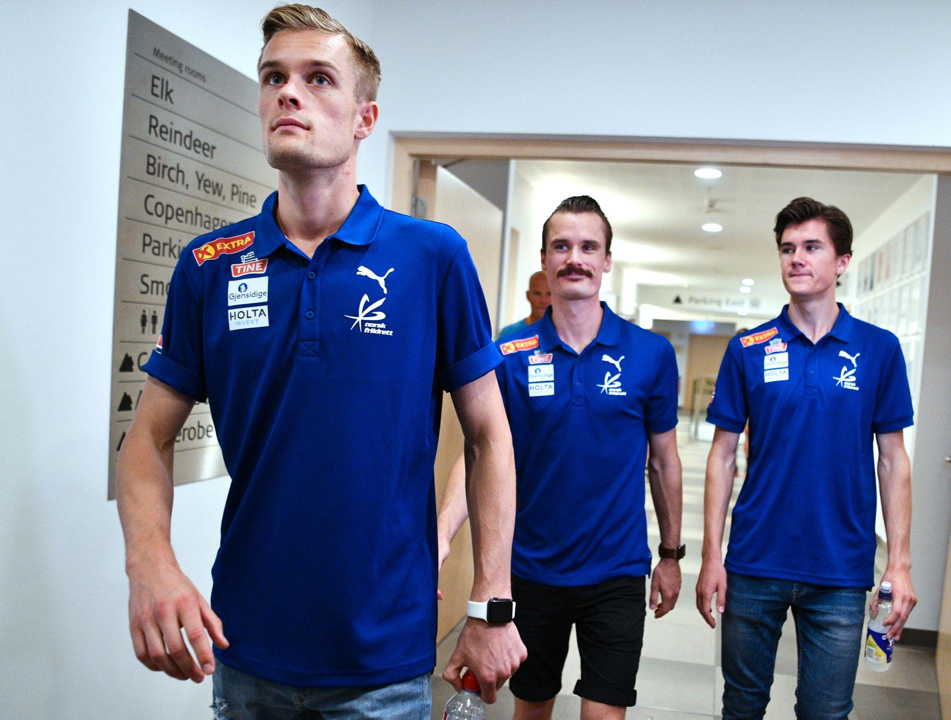 VINNERSKALLER: Filip, Henrik og Jakob Ingebrigtsen er på plass i Berlin – og alle vil bli best.
