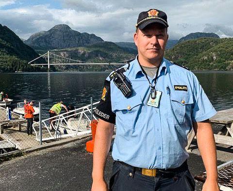 INNSATSLEDER:  Fredag kveld kan en miniubåt bli satt inn i letingen etter den savnede 46-åringen i Dalsfjorden, opplyser politiets innsatsleder Øystein Russenes til VG.