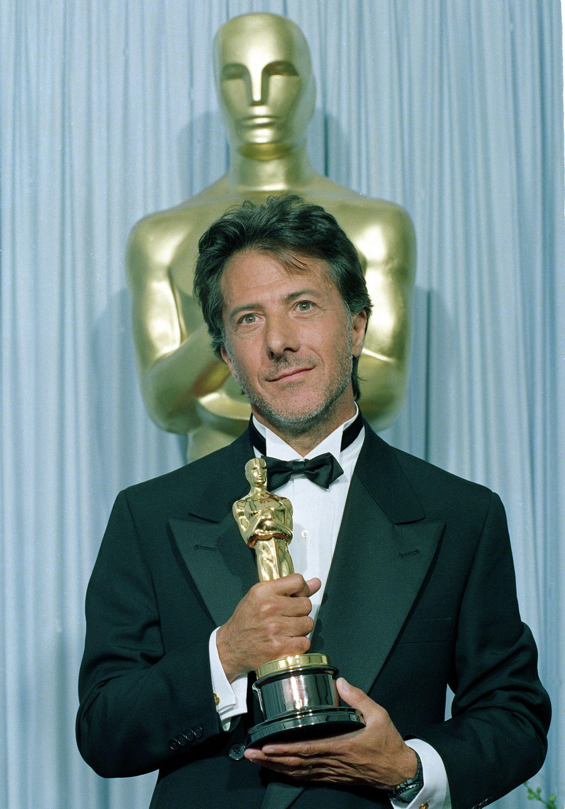 PRISBELØNT: Dustin Hoffman har fått flere Oscar-statuetter, som for «Rain Man» i 1989.