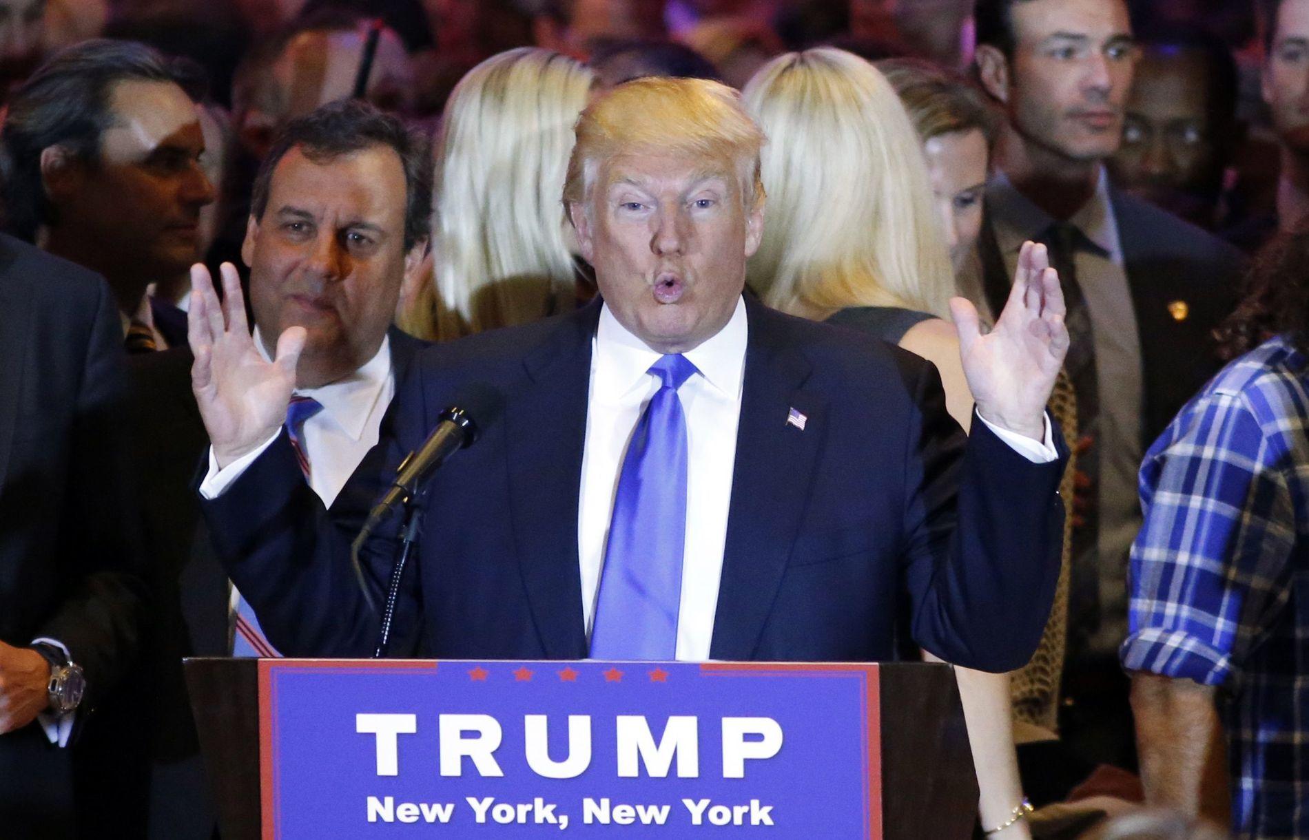 ENESTE IGJEN: Donald Trump har slått ut alle sine republikanske rivaler.
