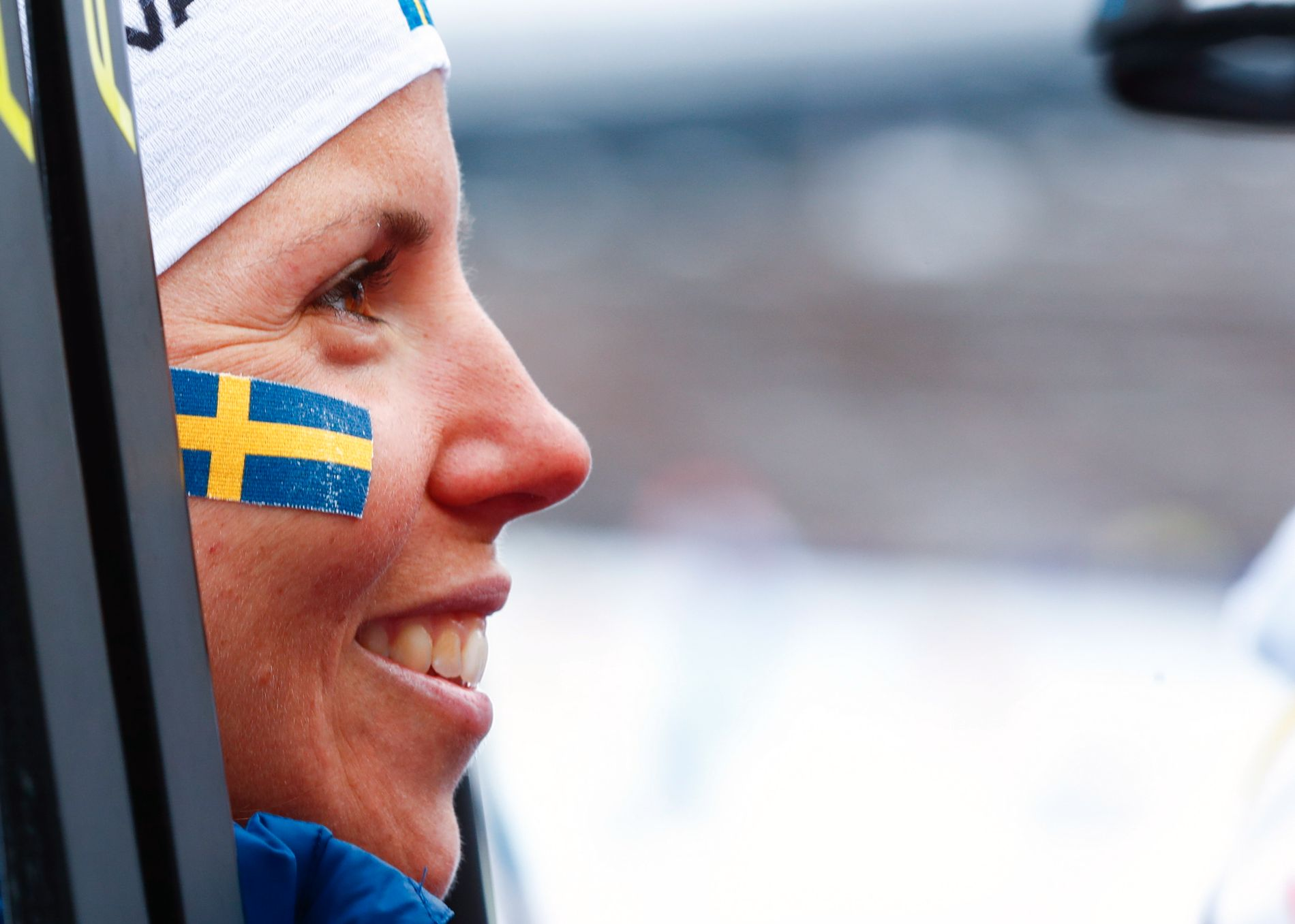 BLÅGUL NEDTUR: Charlotte Kalla og svenske utøvere må vente lenge før det eventuelt blir vinter-OL på hjemmebane, etter at Stockholm nå signaliserer at de ikke vil søke om OL i 2026.