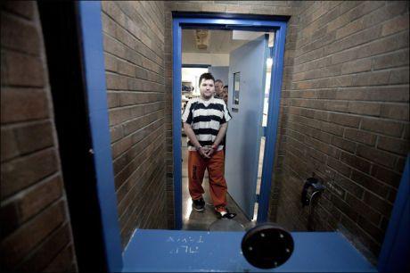 DØMT TIL FENGSEL: Den norske 33-åringen ble tirsdag kveld norsk tid dømt til fengsel i sju og et halvt år. Her fra da VG møtte ham i fengselet i forrige uke. Foto: Thomas Nilsson