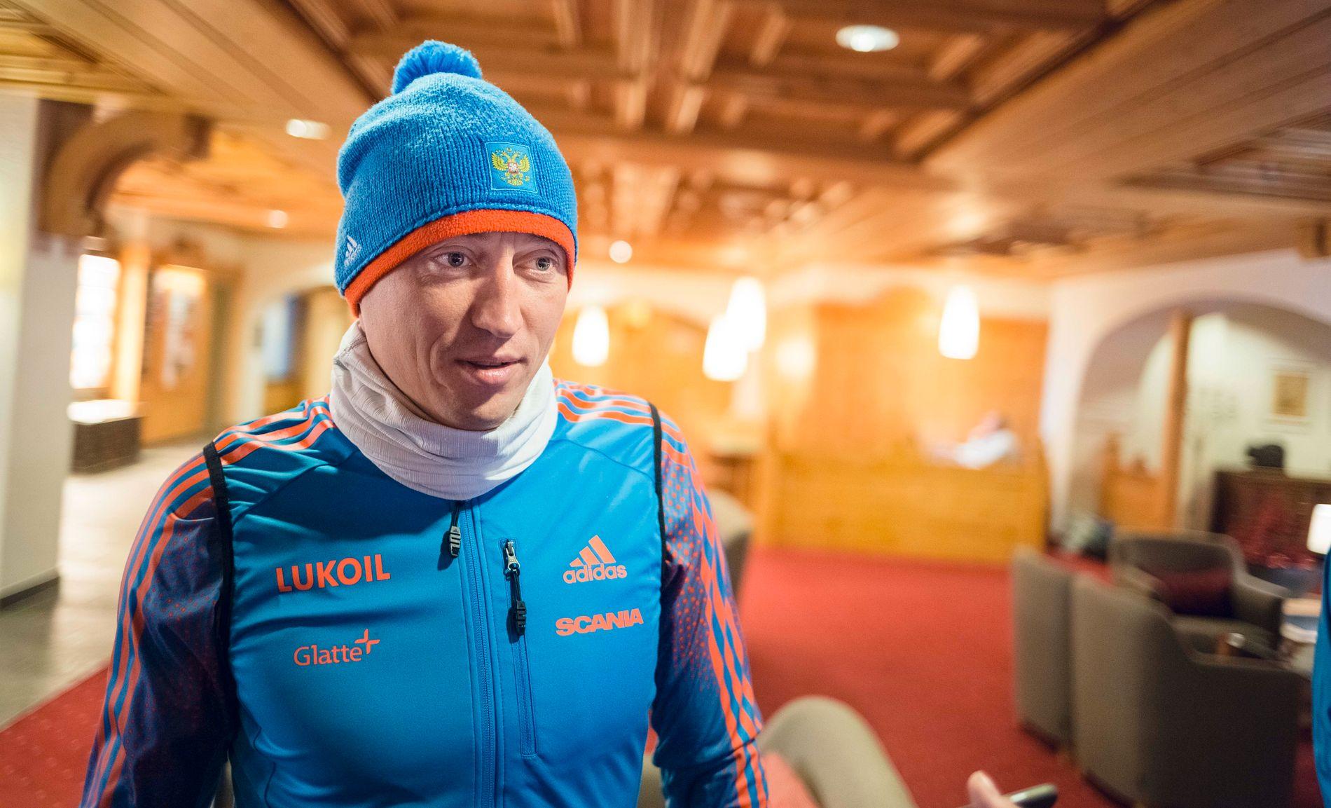 MISTET OL-GULLET: Aleksander Legkov førte an da Russland tok trippel-triumf på 50 km. i OL i 2014. Men IOC har siden fratatt ham gullet og utestengt ham på livstid. Saken er anket til CAS.