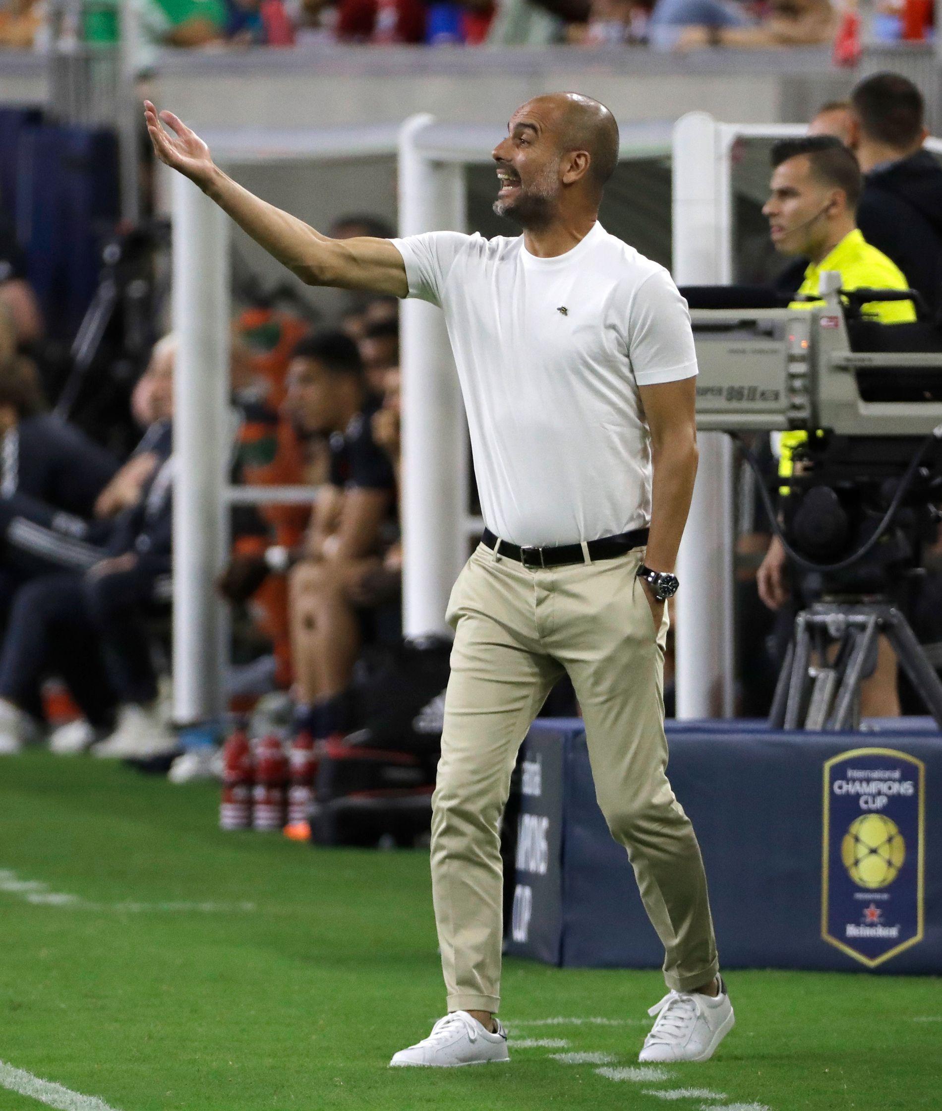 TAP: Pep Guaridola og Manchester City tapte sommerens første treningskamp.
