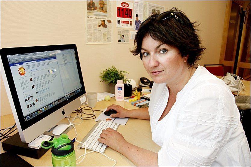 - TEKNISK FEIL: Trine Grung eier rundt 200 ulike domener, og flere av dem leder inn til «trinegrung.no». Bildet er fra kontoret hennes i 2010. Foto: KNUT ERIK KNUDSEN/VG