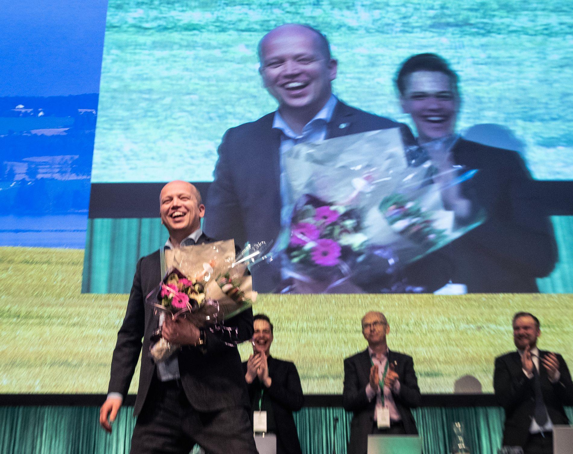 GJENVALGT. Trygve Slagsvold Vedum ble på landsmøtet gjenvalgt som partileder.