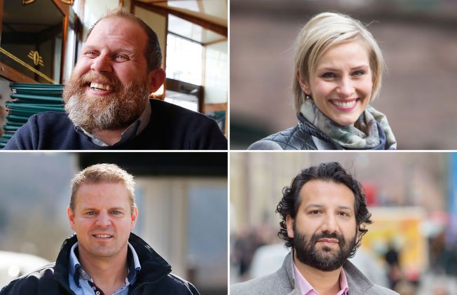 FINALISTER: I kveld får enten Truls Svendsen, Anne Rimmen, Otto Robsahm eller Kadafi Zaman ta med seg «Publikumsprisen» hjem.