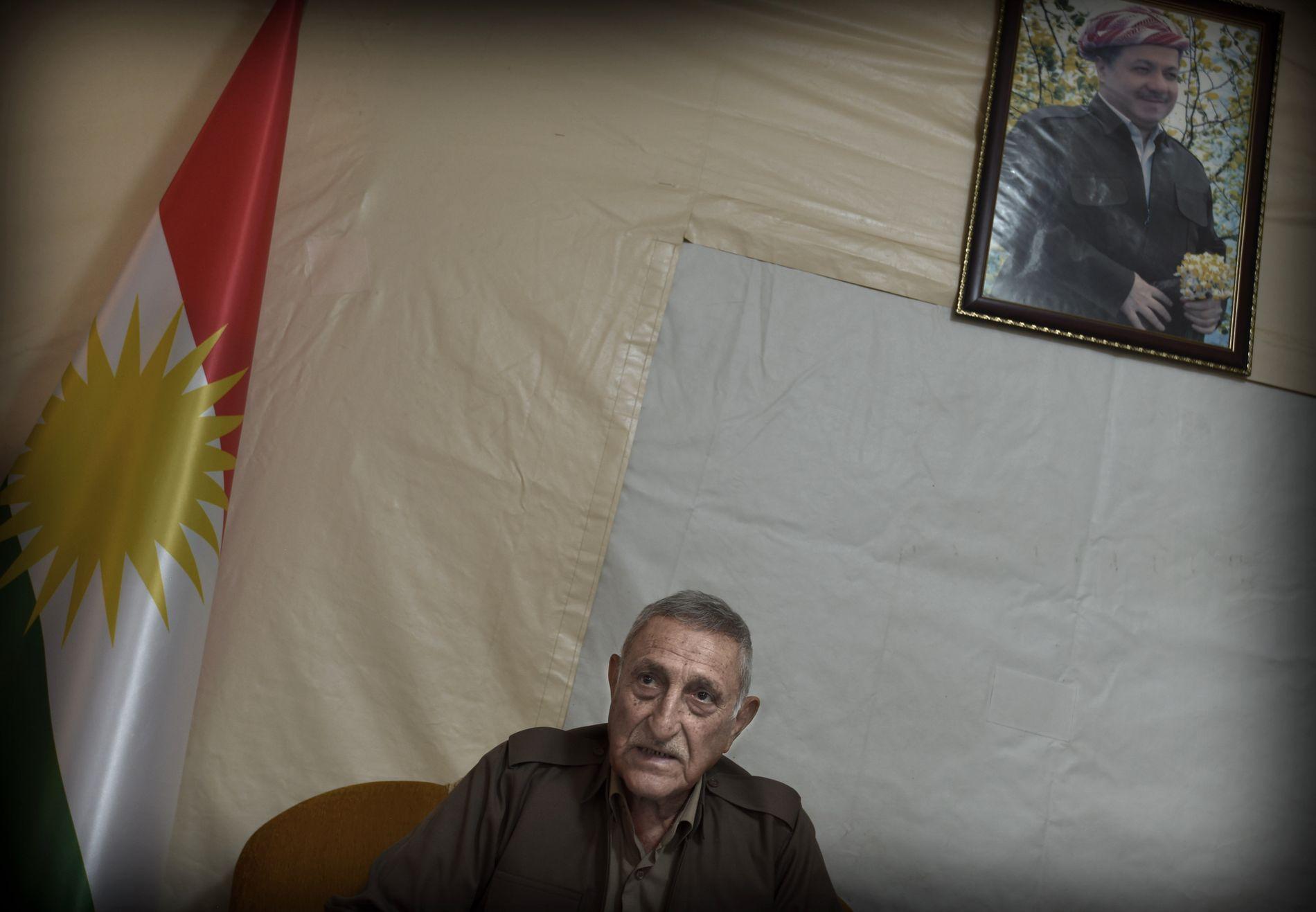 LEGENDARISK GENERAL: General og sector commandor» Hamid Afandi kom tilbake fra pensjonisttilværelsen for å kjempe mot IS.