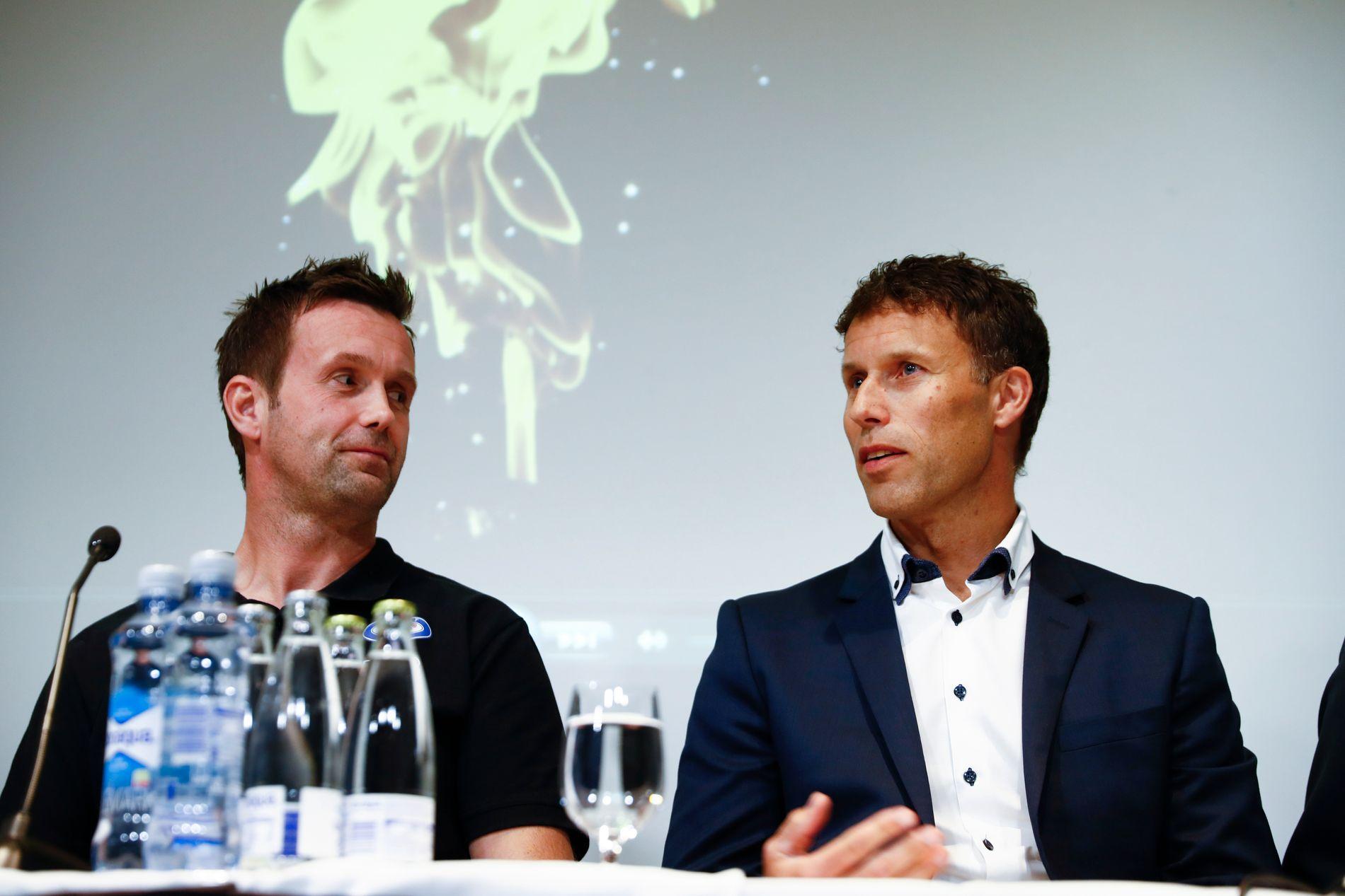 RONNY X 2: Vålerenga-trener Ronny Deila og United-ambassadør Ronny Johnsen.