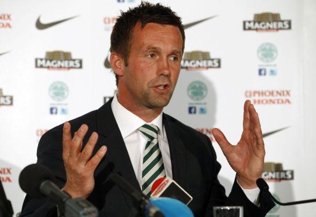 NY CELTIC-SJEF: Ronny Deila ble presentert som ny Celtic-manager på en pressekonferanse i Glasgow fredag.