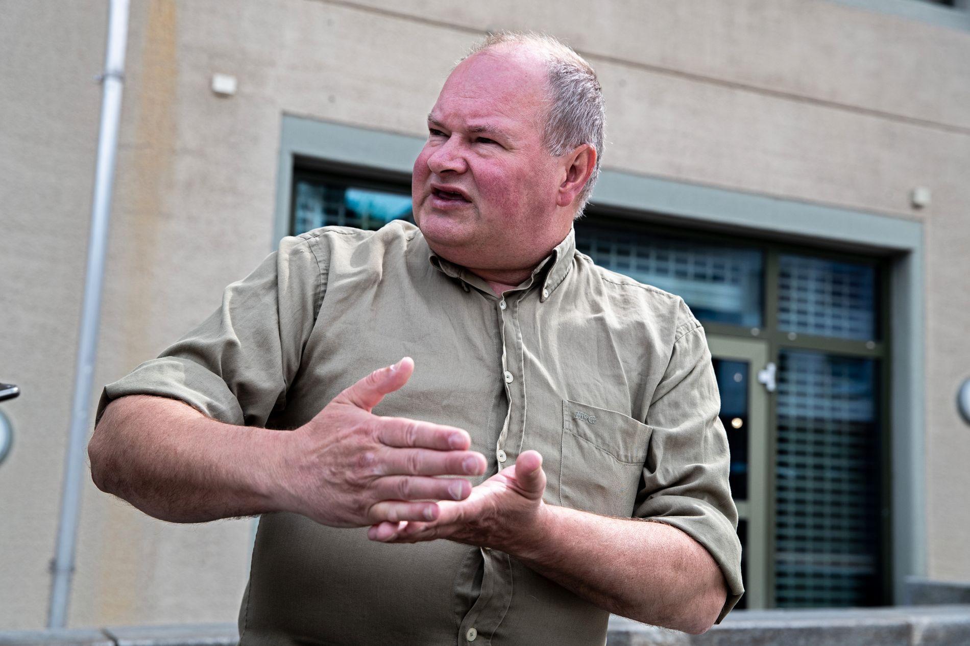 IKKE RÅD:  - Hvis du bygger noe du ikke har råd til havner du i bunnløs gjeld, sier Trym Aafløy, som mener Bergen ikke har råd til bybane-utbygging.