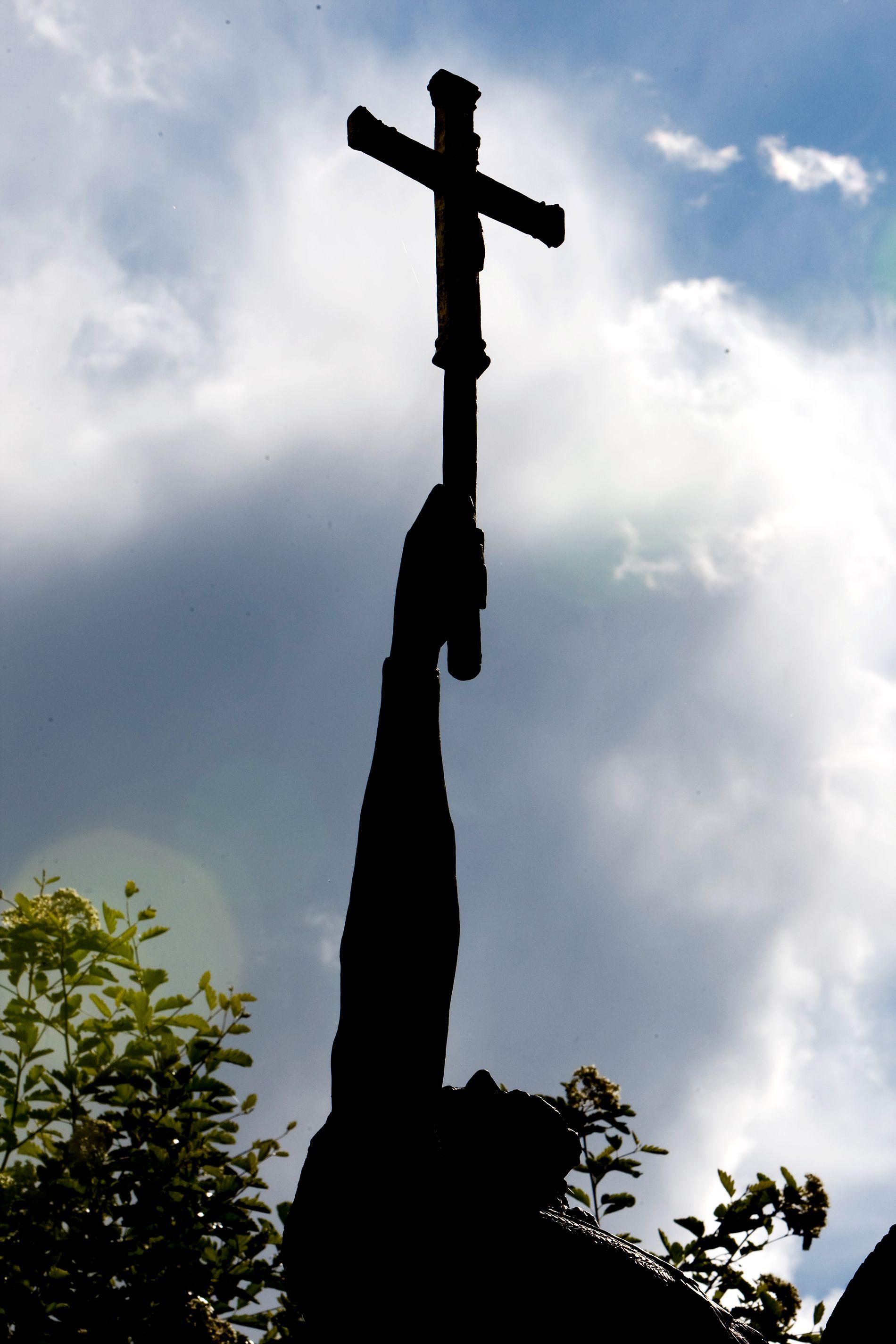 Statuen av Olav den hellige i Amfiet på Stiklestad der Spelet om Heilag Olav spilles. På Stiklestad i 1030 stod det avgjørende slaget i kristningen av Norge. FOTO: NTB Scanpix