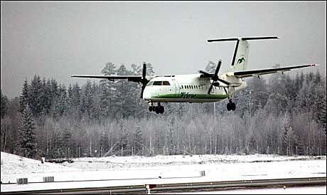 NYE MODELLER: Widerøe får gjenoppta flyginen med problemflyet Dash 8 -Q400, men da med nye modeller. Foto: VG