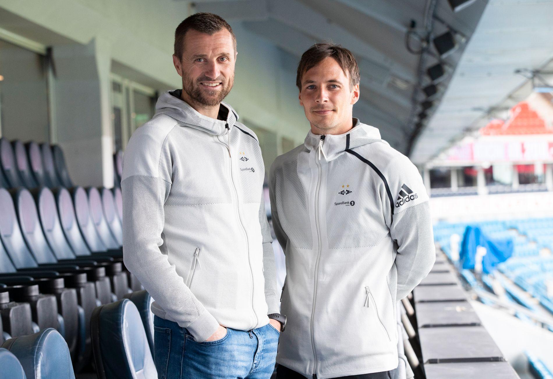 PÅ ULLEVAAL: RBK-trener Eirik Horneland og kaptein Mike Jensen var til stede på «Avspark».