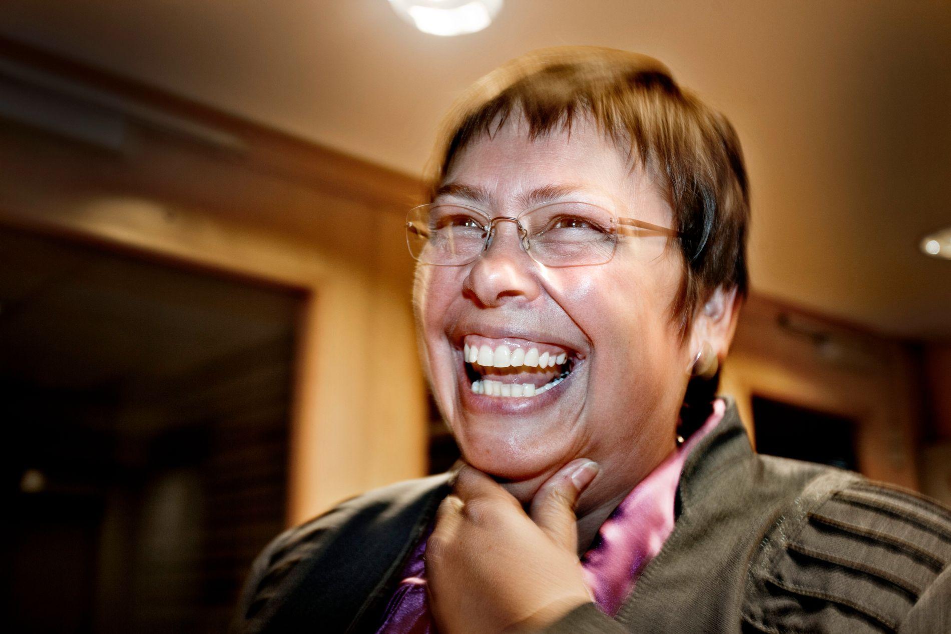 16 ÅR VED RORET: Ap-ordfører Rita Ottervik har beholdt makten i fire perioder. Her på valgvaken i 2015.