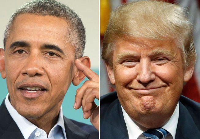 ORDKRIG: President Barack Obama og republikaner Donald Trump.