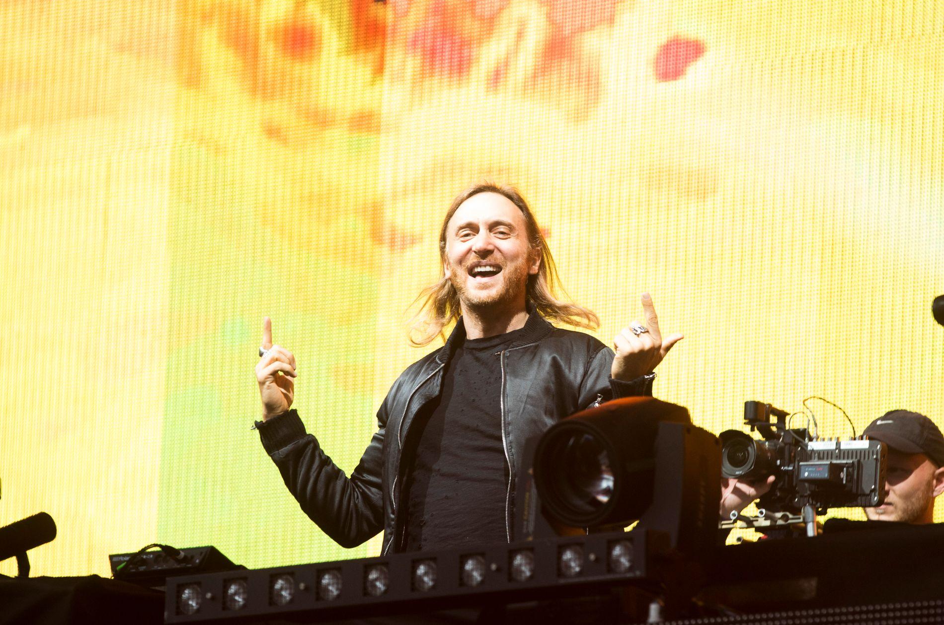 GUETTA PÅ TUR: Superstjernen David Guetta inntok Stavernfestivalen fredag. VGs anmelder omtaler konserten som «tam». Dette bildet er fra Findings-festivalen på Bislett stadion i 2016.