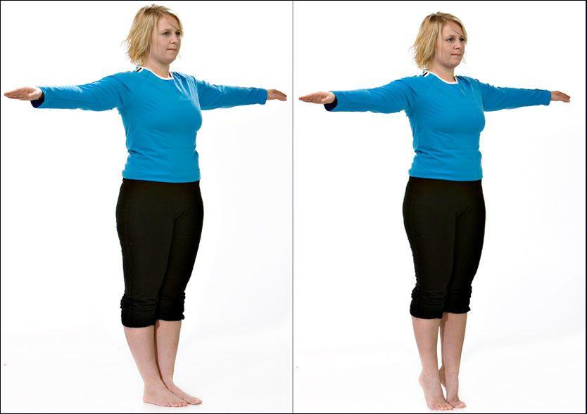 de0187d9 Da forebygger du skader, forteller treningsekspert i Vektklubb.no, Trine  Bækkevar. Her viser hun en enkel øvelse. Forsøk å gjøre samme øvelse med  lukkede ...