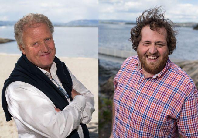 GLEDER SEG: Dan Børge Akerø og Ronny Brede Aase er klare for tur.