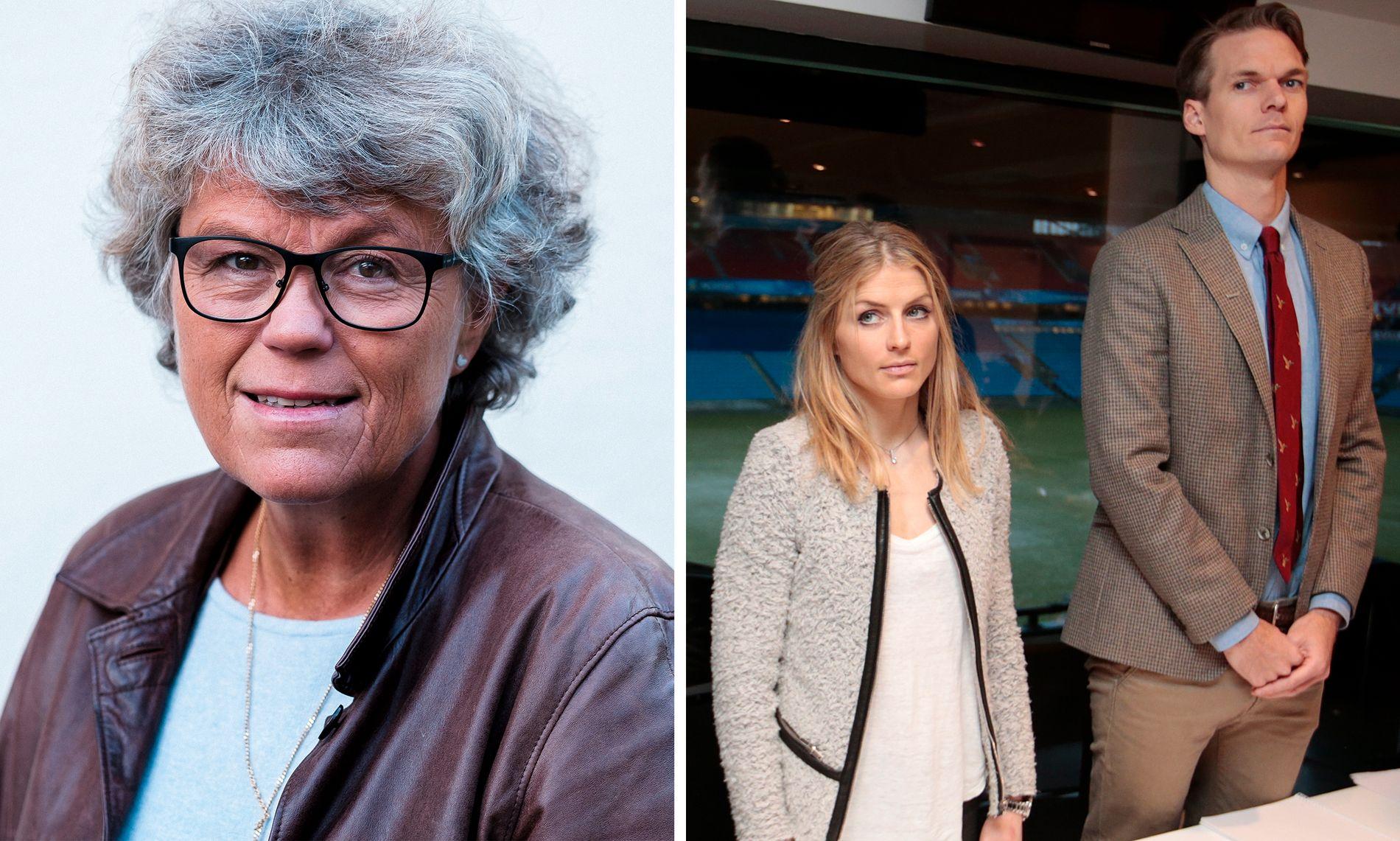 INSPIRERT: Forfatter Anne Holt, her fra en photoshoot i 2015, trekker linjer til dopingsaken til Therese Johaug i sin nye bok. Dopinghøringen til langrennsløperen var på Ullevaal stadion i januar i 2017.